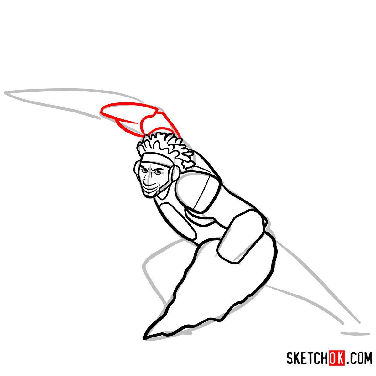How to draw Wasabi as a superhero | Big Hero 6 - step 08