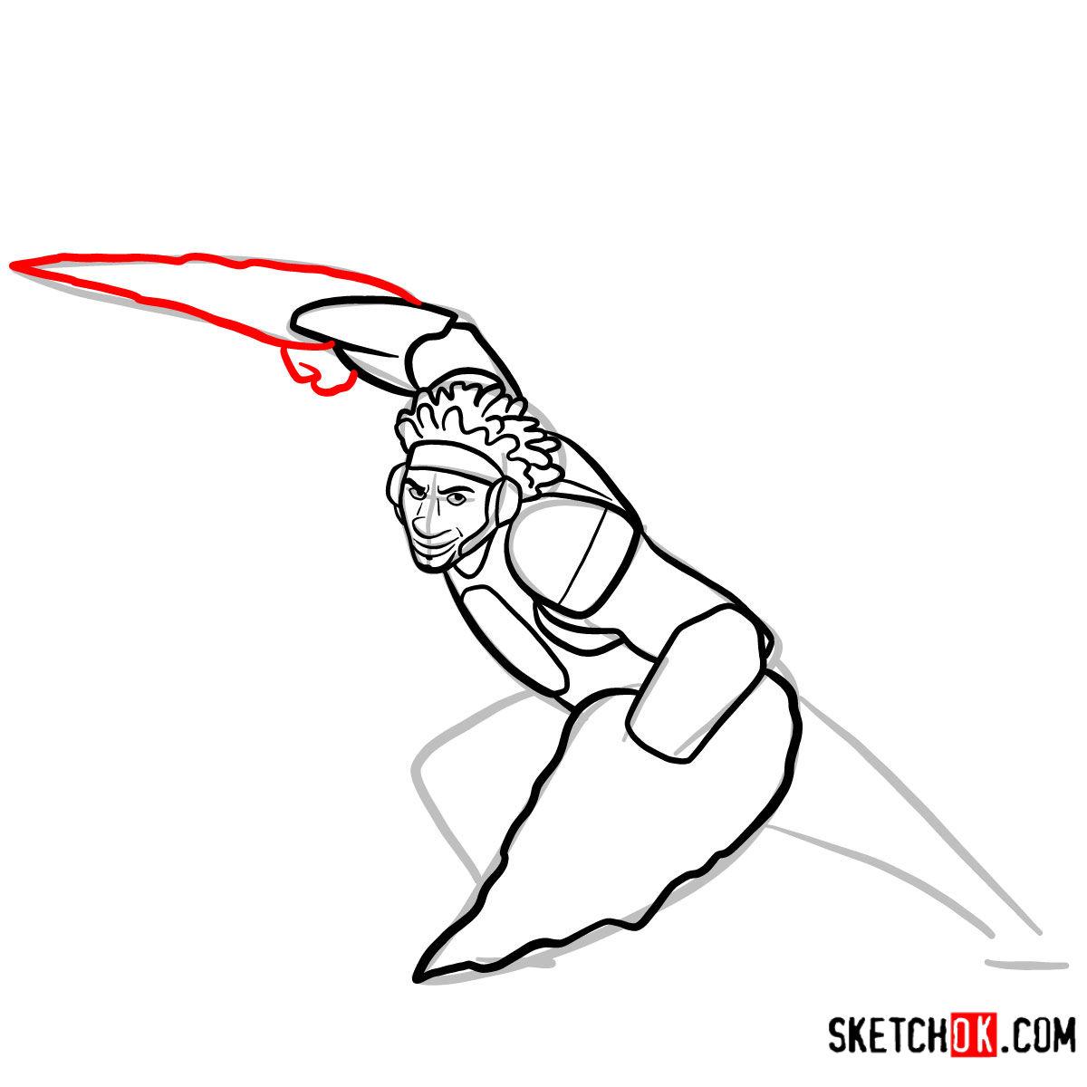 How to draw Wasabi as a superhero | Big Hero 6 - step 09