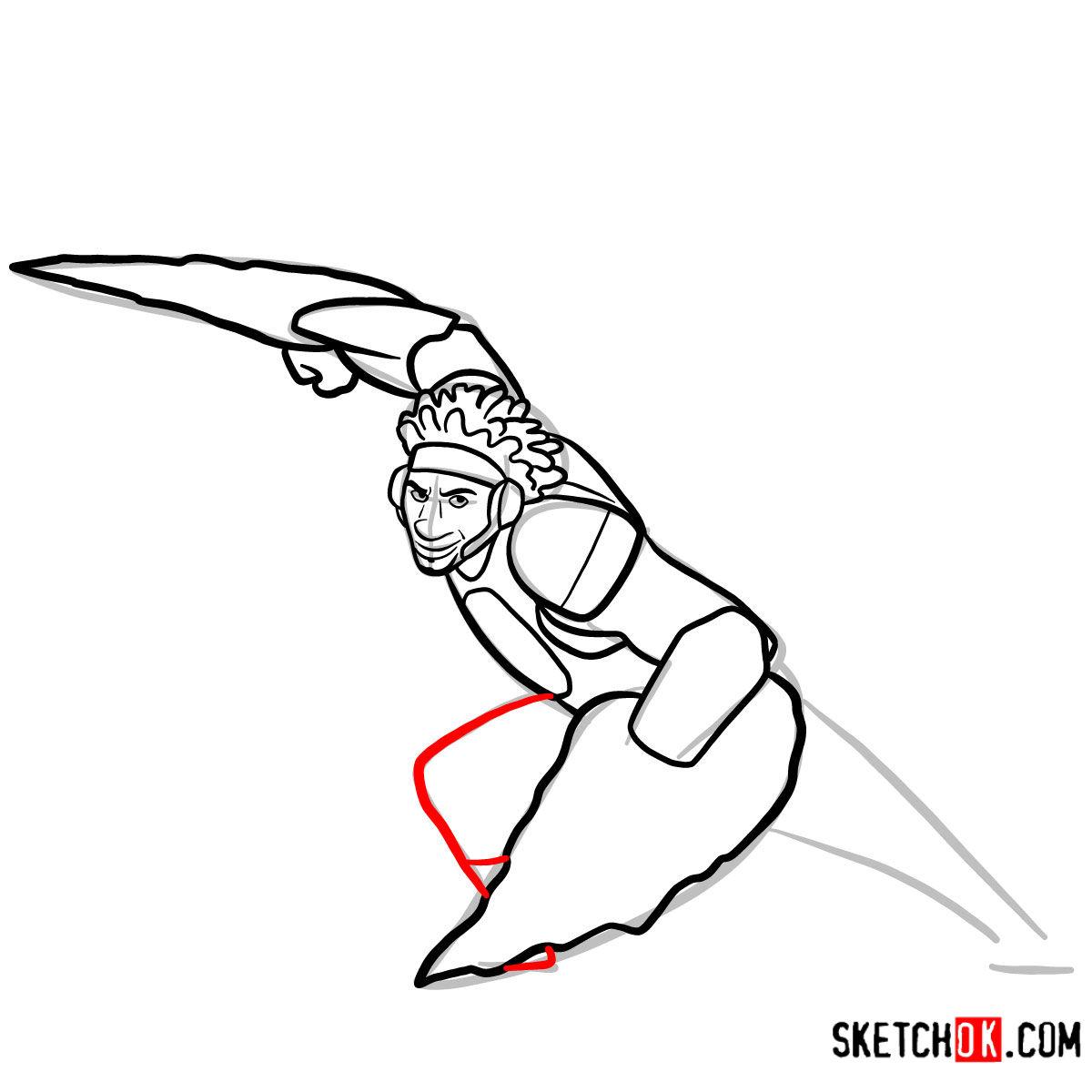How to draw Wasabi as a superhero | Big Hero 6 - step 10