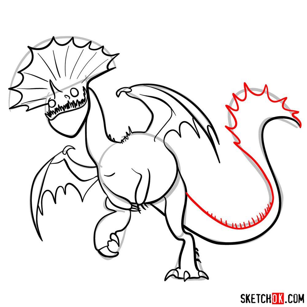 How to draw Hobblegrunt dragon - step 16