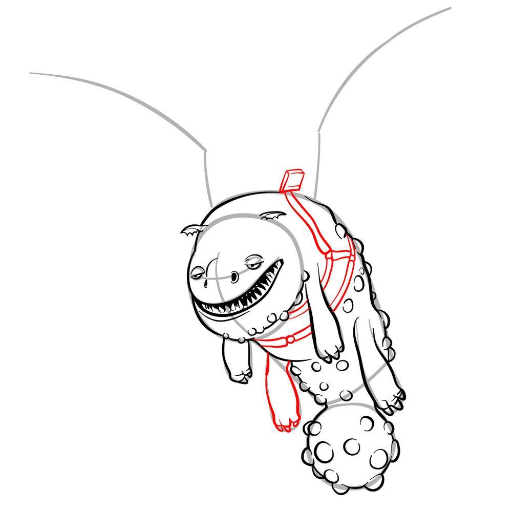 How to draw Hotburple dragon - step 14