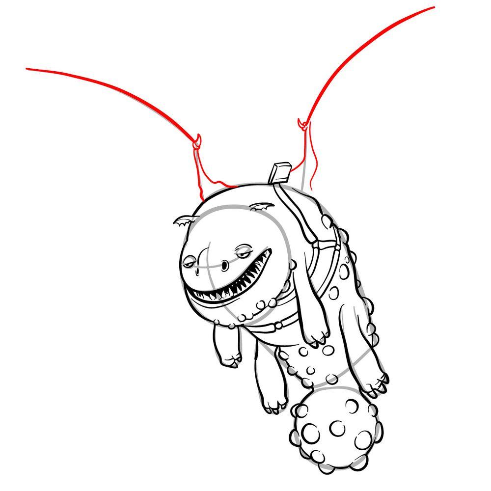 How to draw Hotburple dragon - step 15