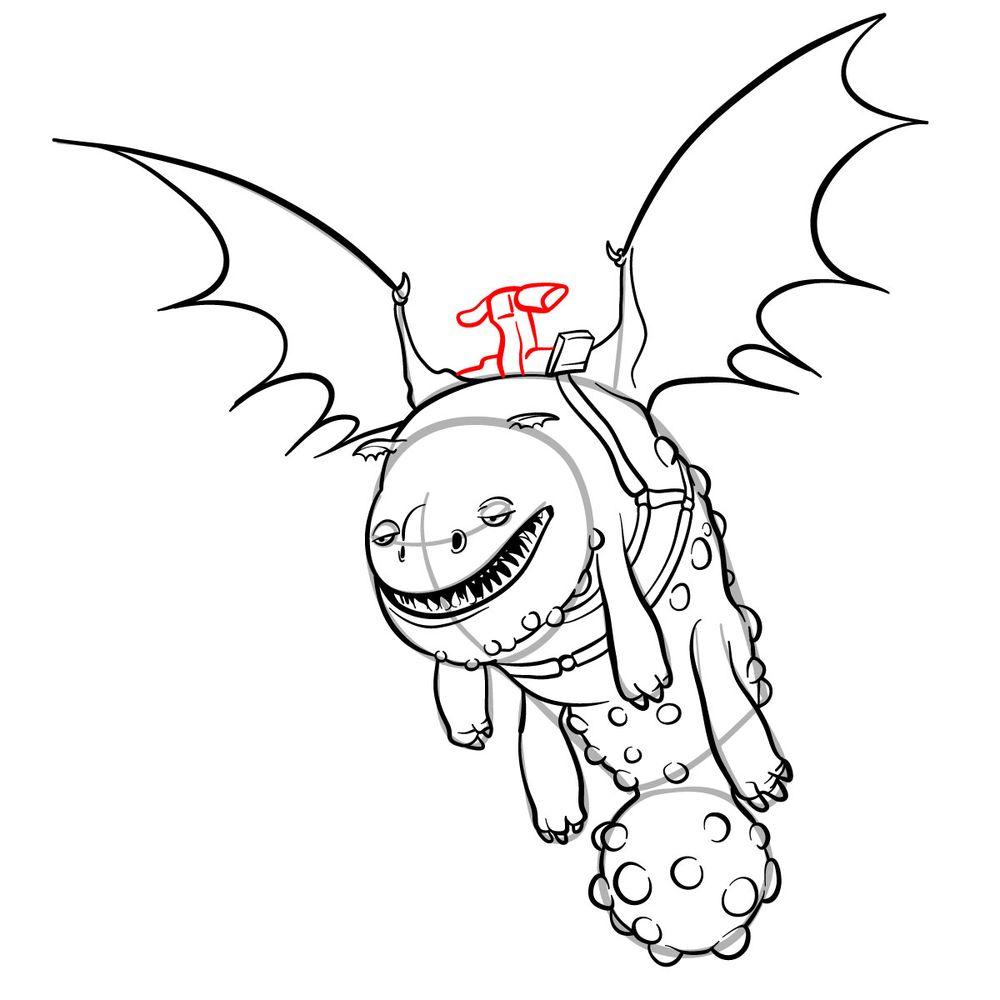 How to draw Hotburple dragon - step 17