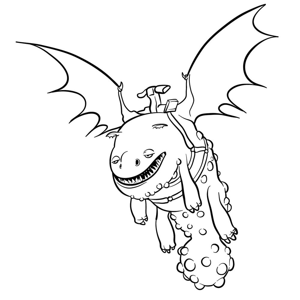 How to draw Hotburple dragon