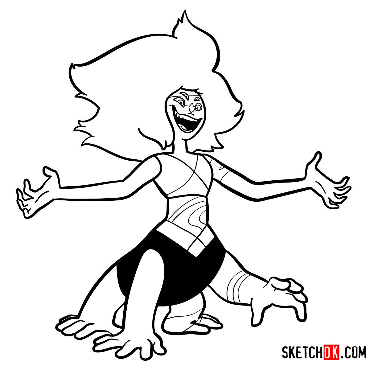 How to draw Malachite | Steven Universe - step 16