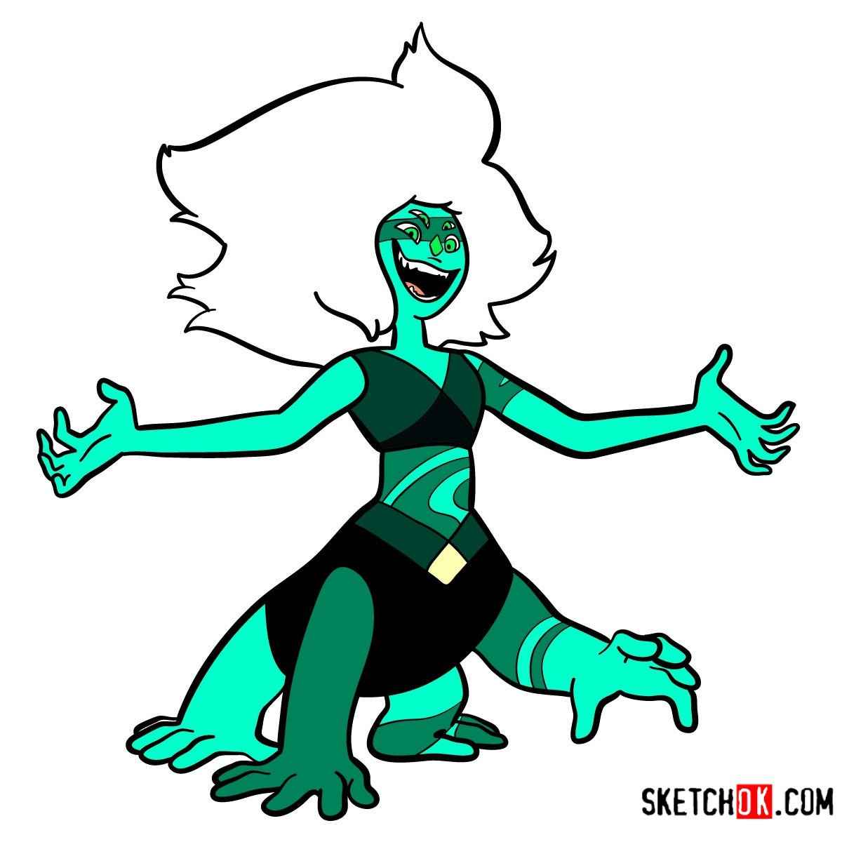 How to draw Malachite | Steven Universe - coloring