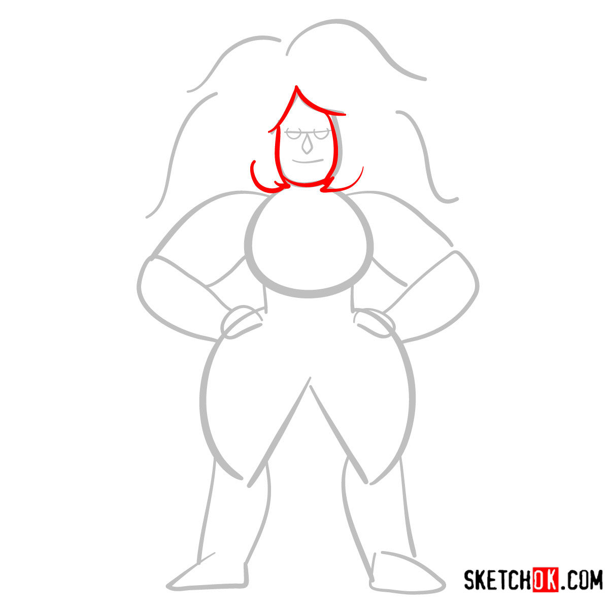 How to draw Jasper | Steven Universe - step 03