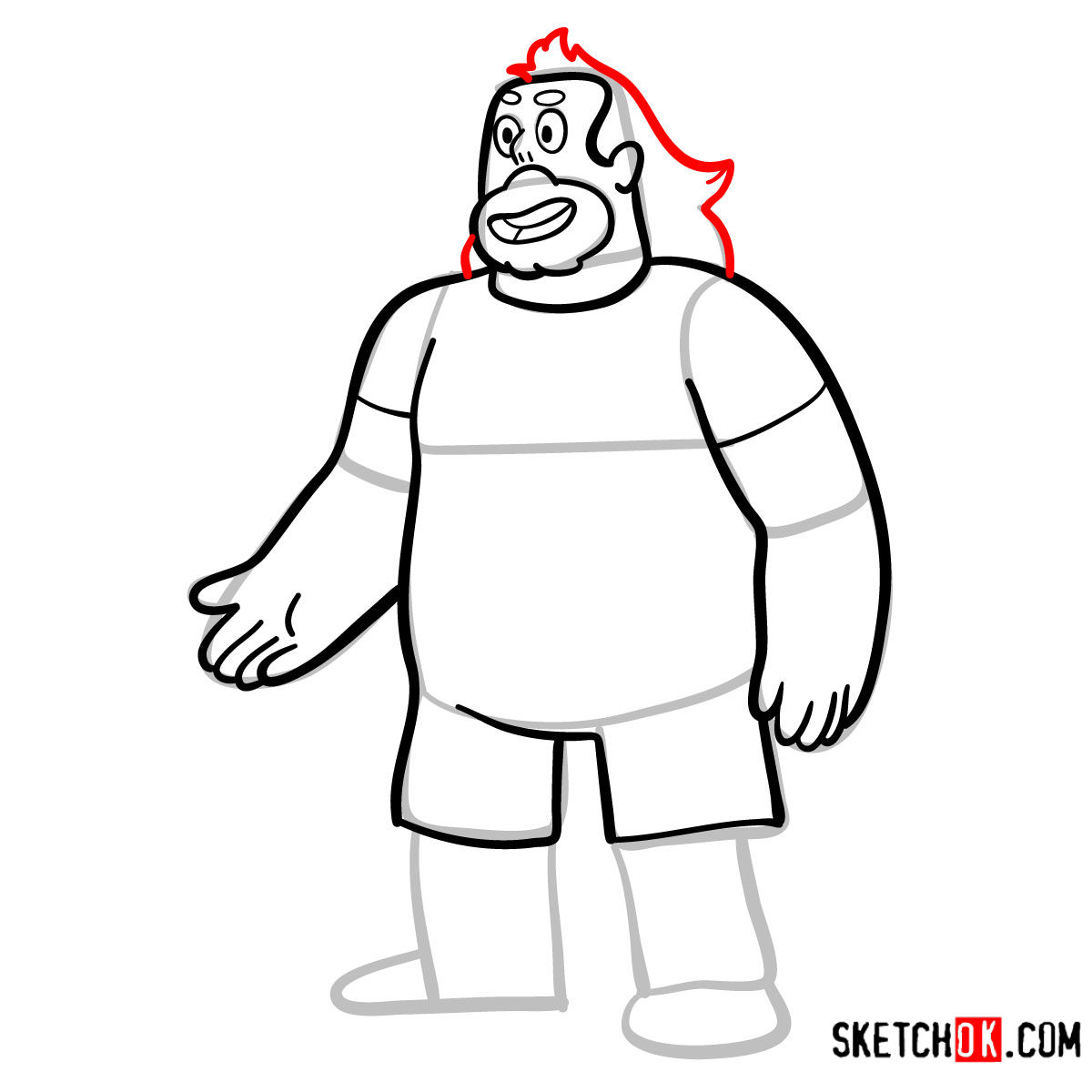 How to draw adult Greg Universe | Steven Universe - step 08