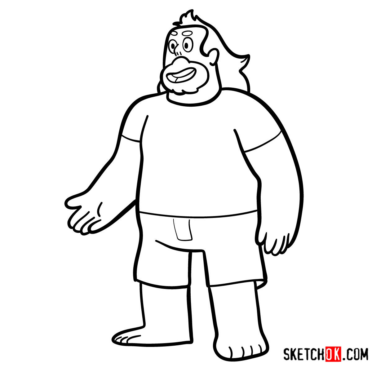 How to draw adult Greg Universe | Steven Universe - step 11