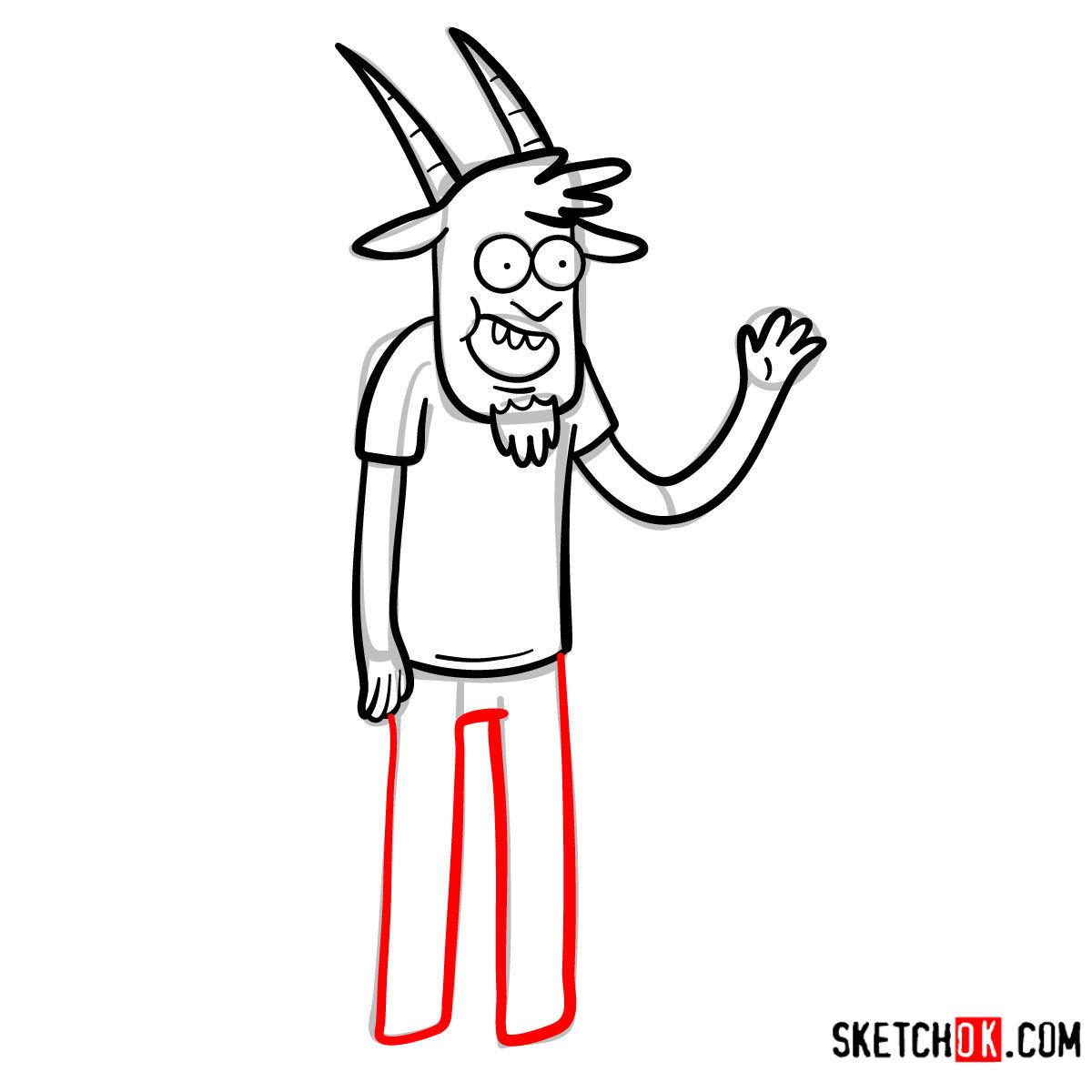 How to draw Thomas | Regular Show - step 09