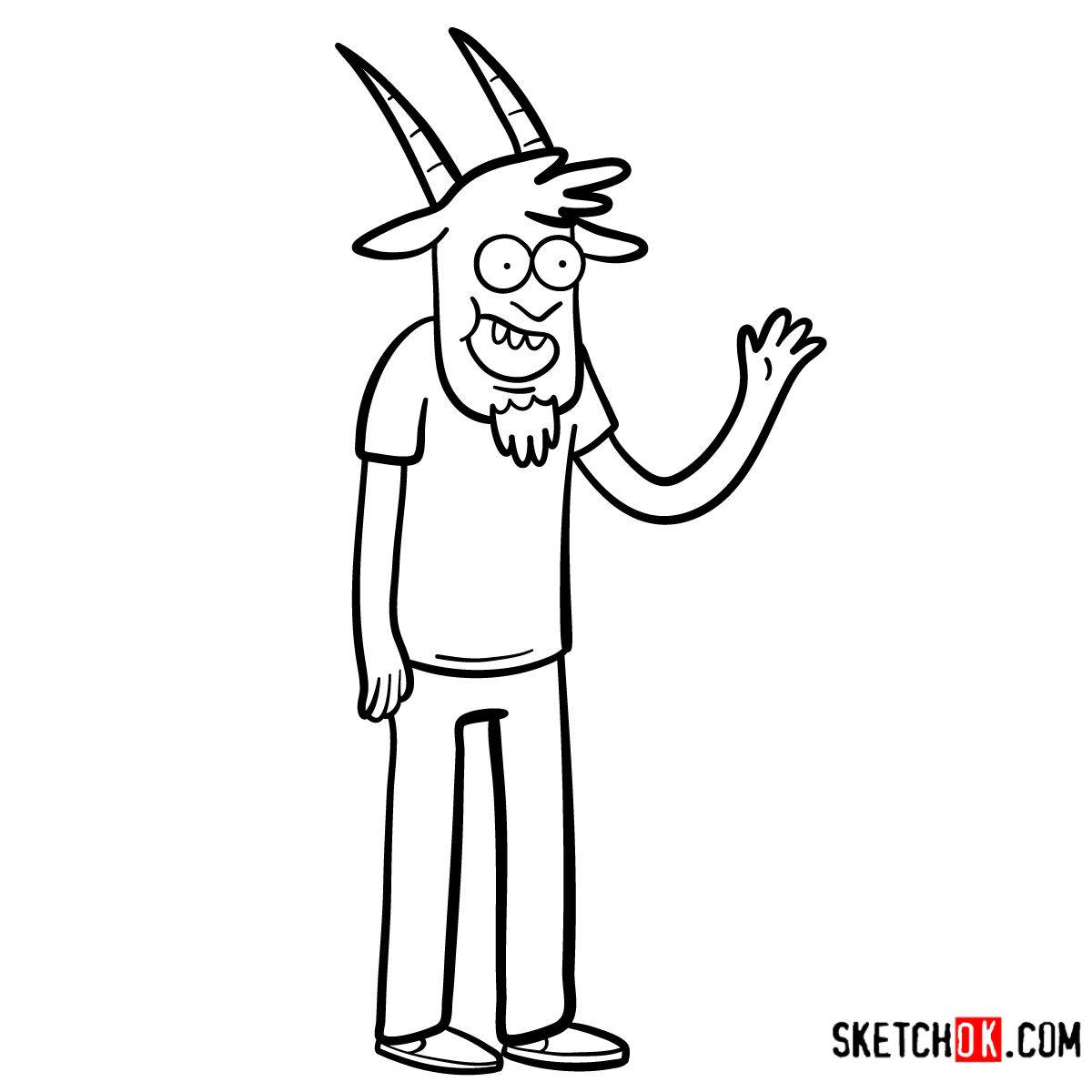 How to draw Thomas | Regular Show - step 11