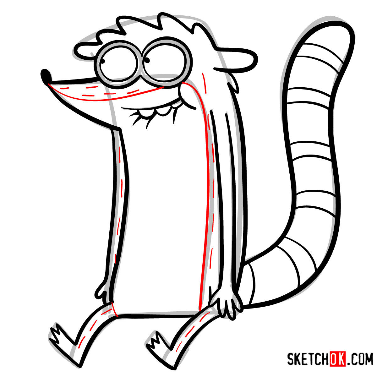 How to draw Rigby | Regular Show - step 10