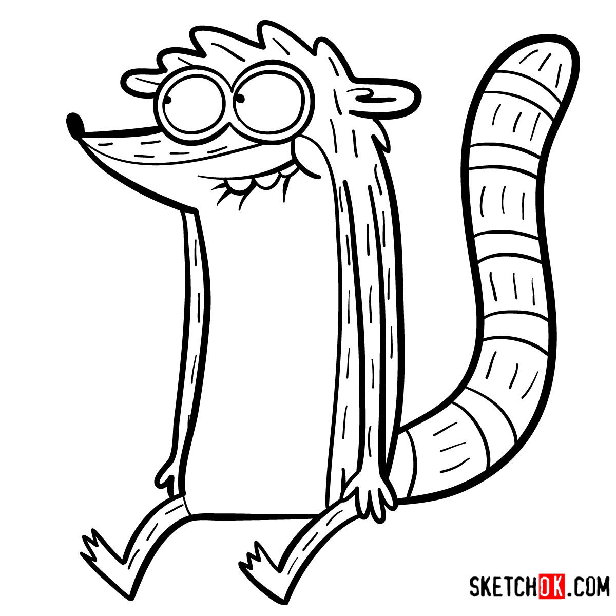 How to draw Rigby | Regular Show - step 12
