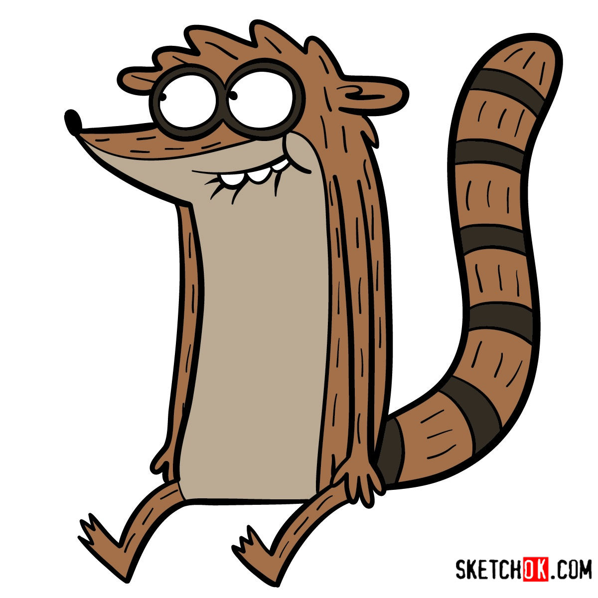 How to draw Rigby | Regular Show