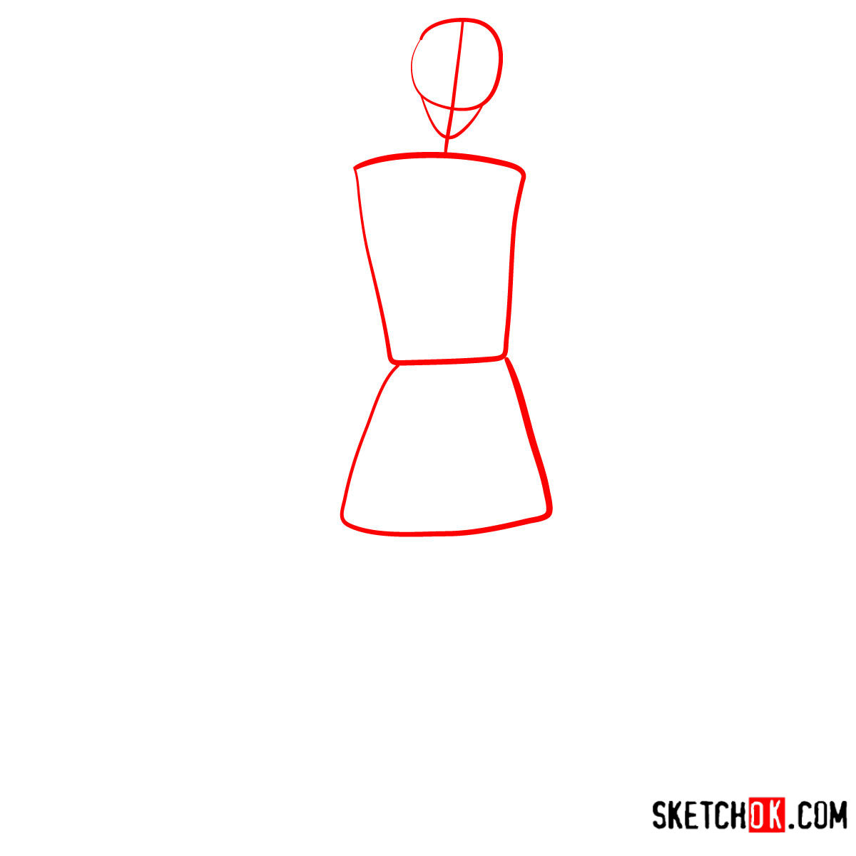 How to draw Ken from Toy Story - step 01