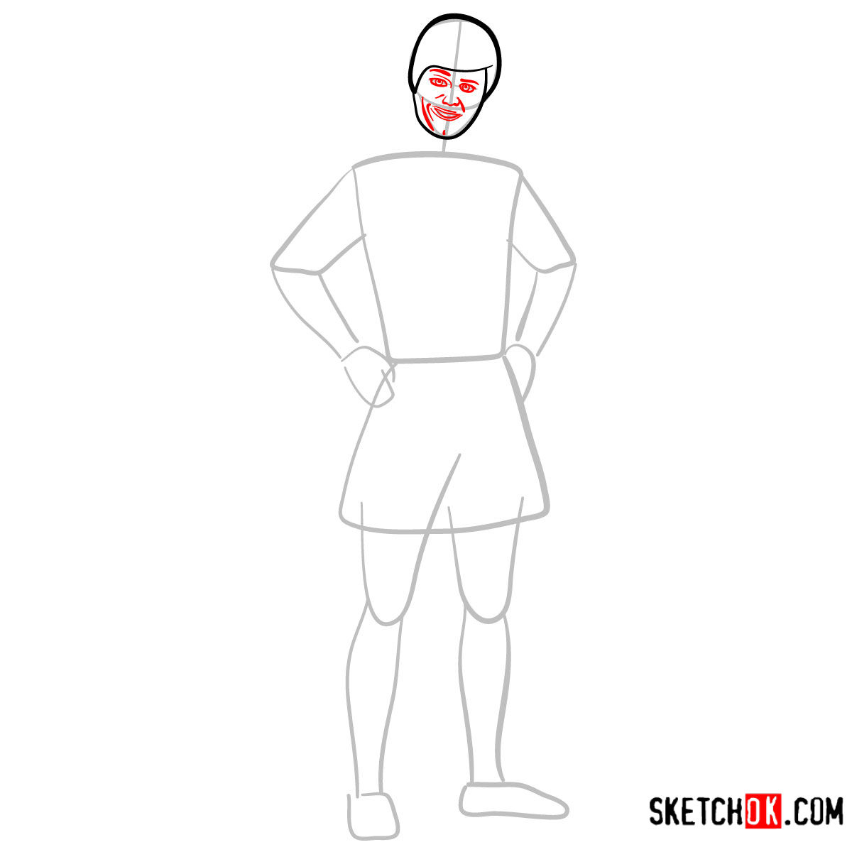 How to draw Ken from Toy Story - step 04