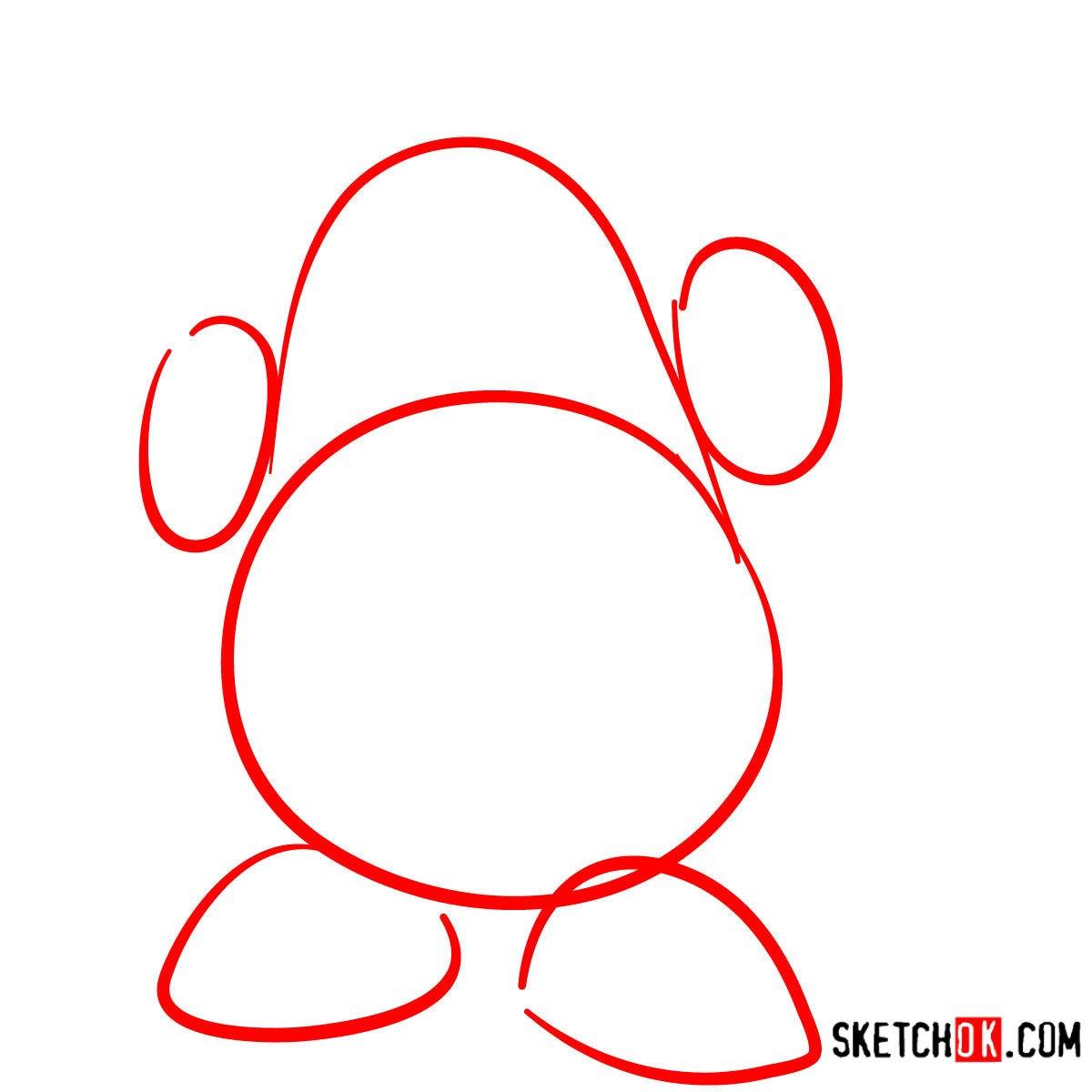 How to draw Mr. Potato Head | Toy Story - step 01