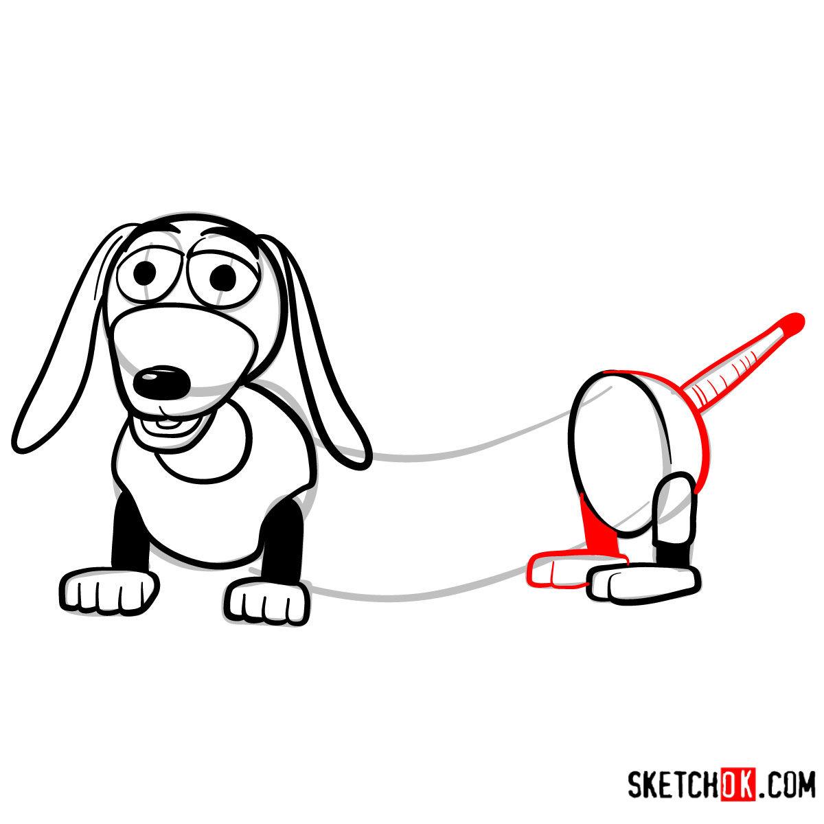 How to draw Slinky Dog | Toy Story - step 07
