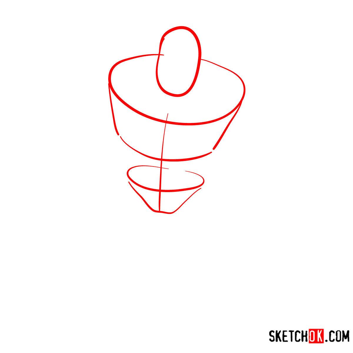 How to draw Buzz Lightyear | Toy Story - step 01