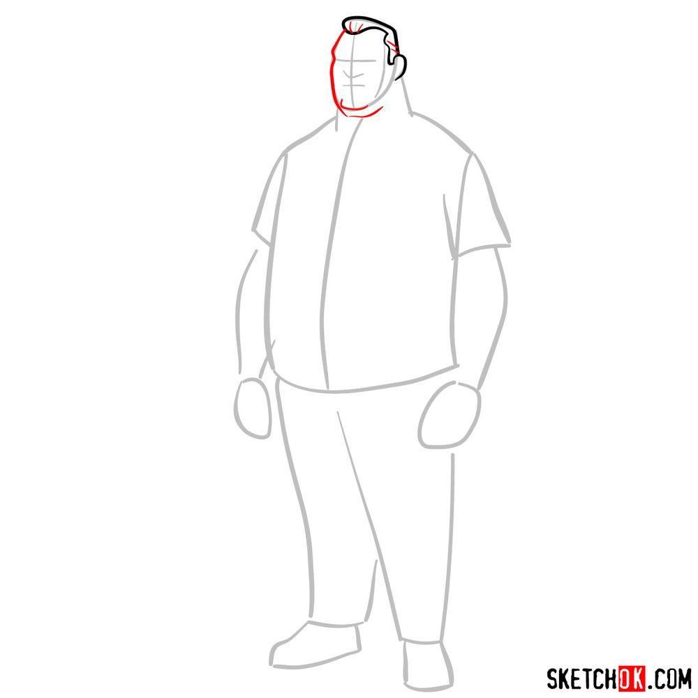 How to draw Max Tennyson (Grandpa Max) - step 04