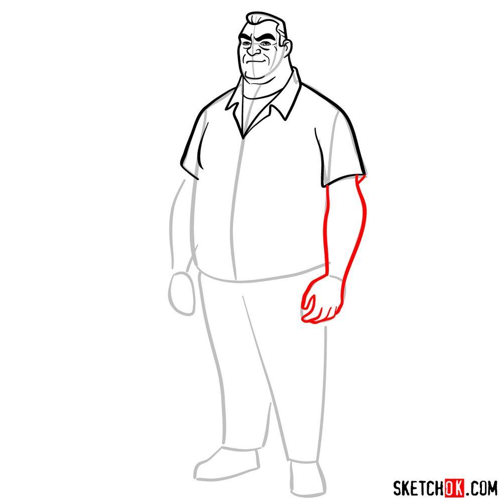 How to draw Max Tennyson (Grandpa Max) - step 08