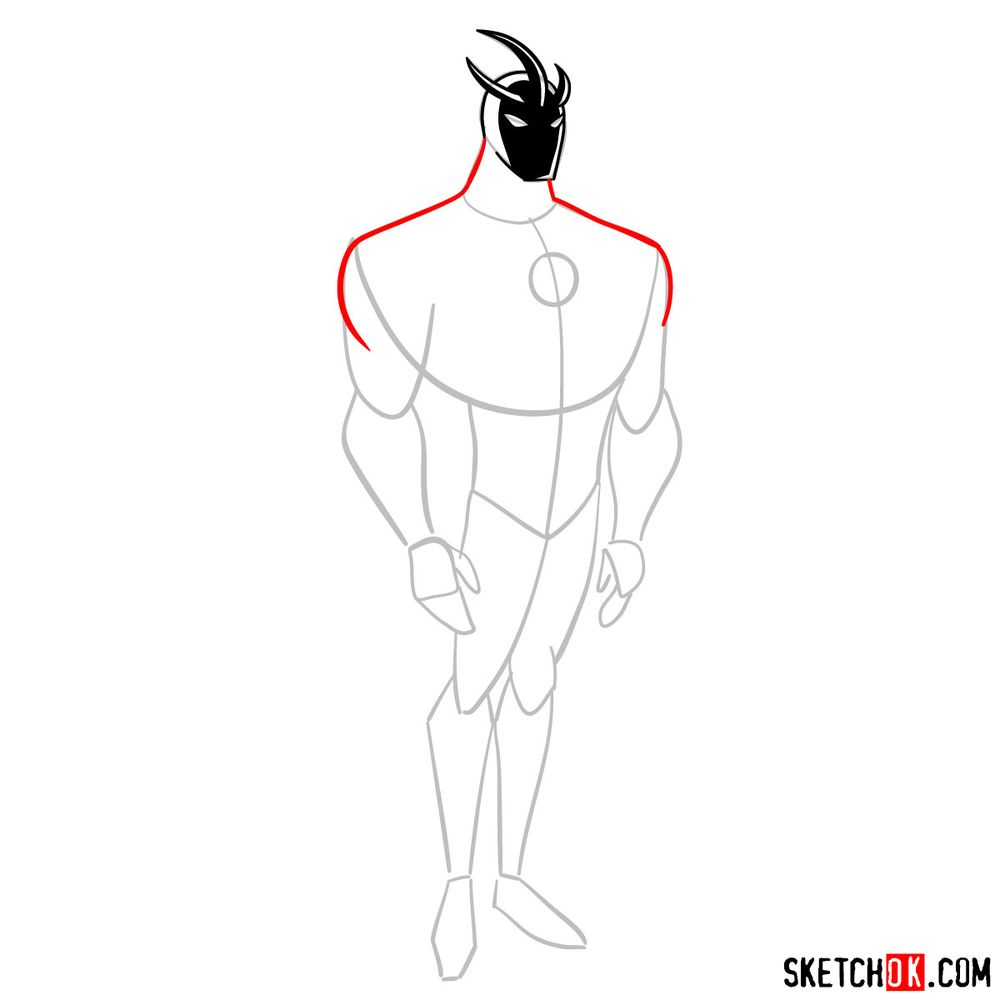 How to draw Alien X from Ben 10 - step 05