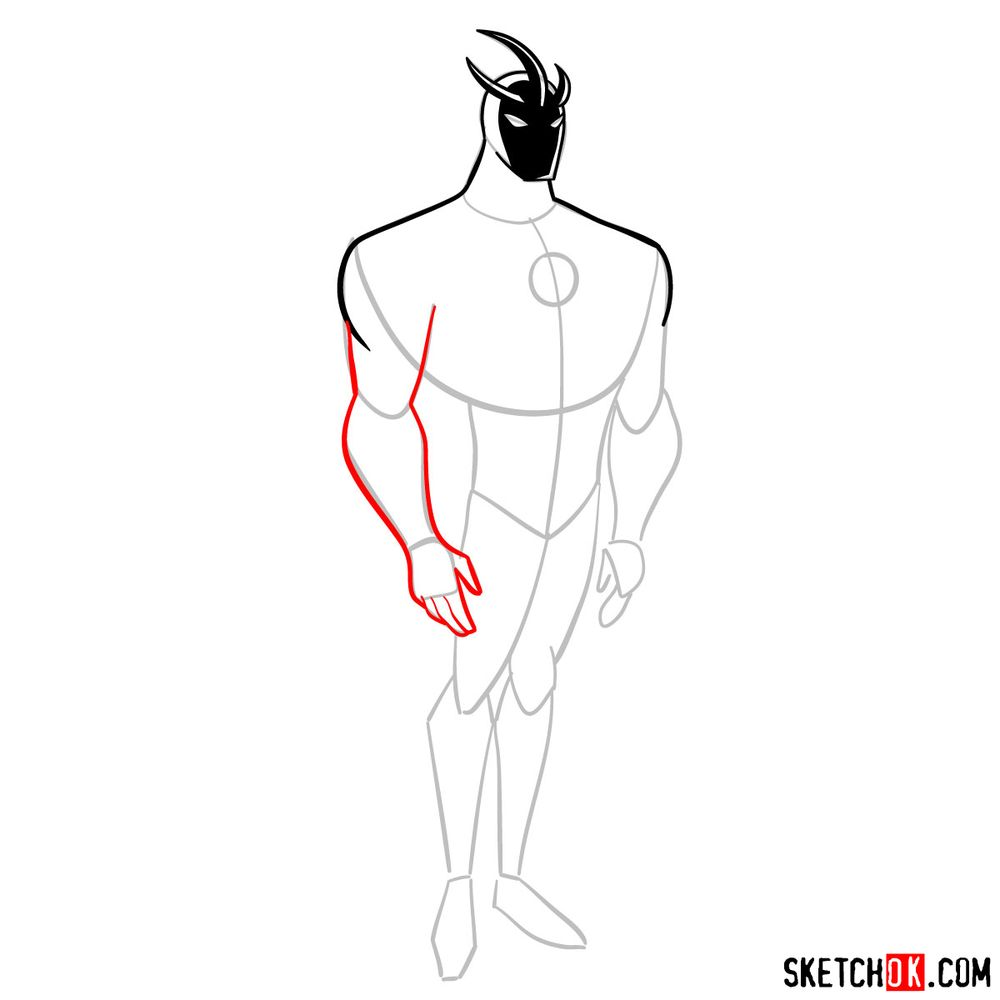How to draw Alien X from Ben 10 - step 06