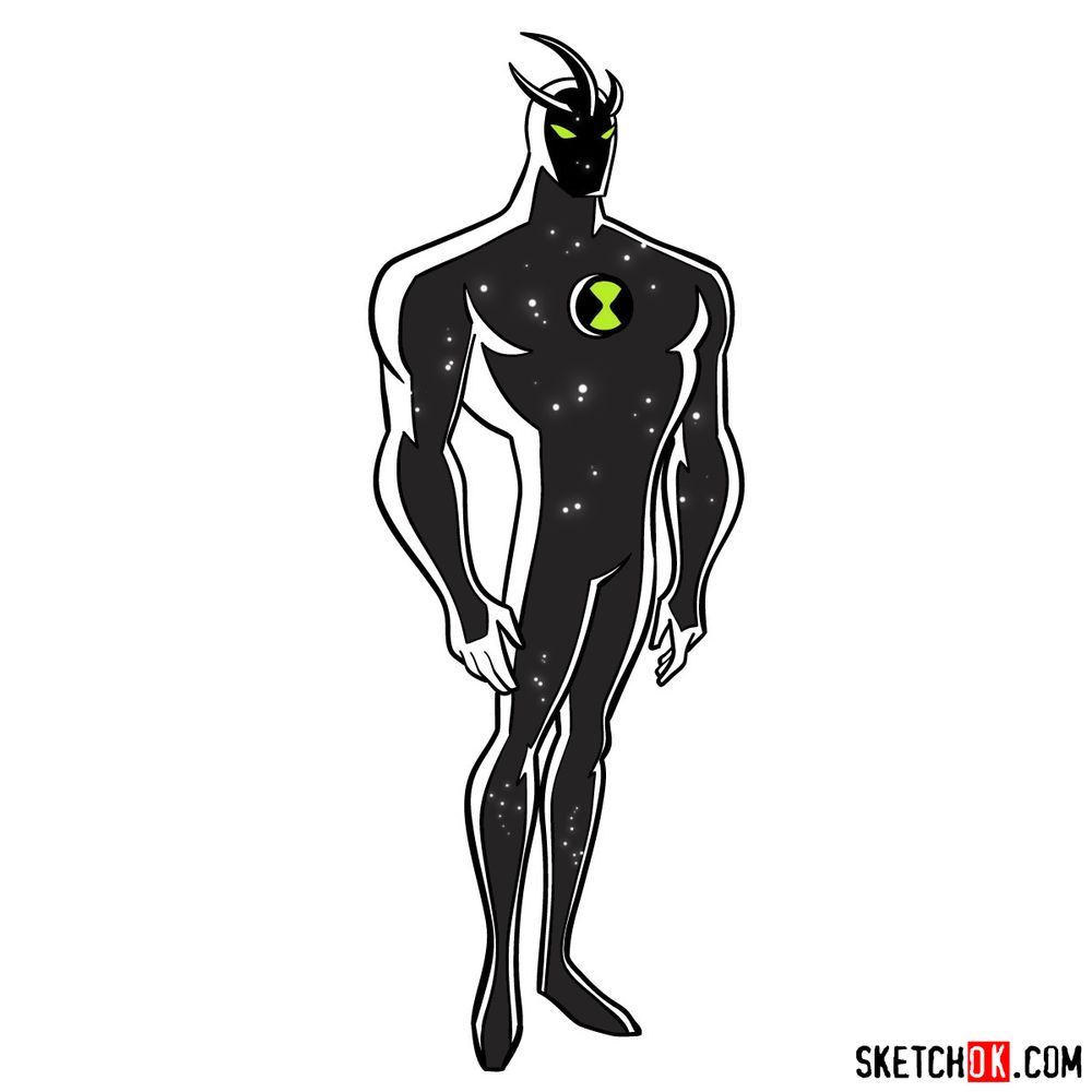 How to draw Alien X from Ben 10