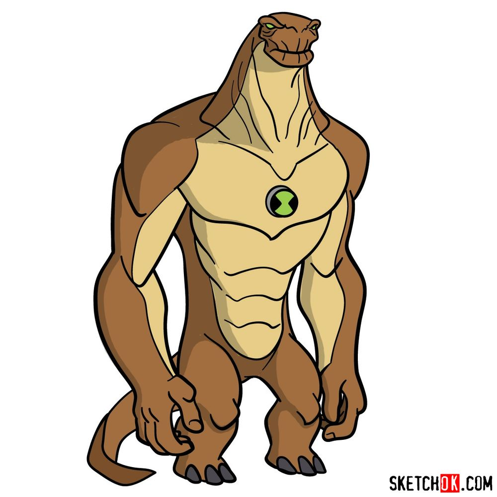 How to draw Humungousaur from Ben 10