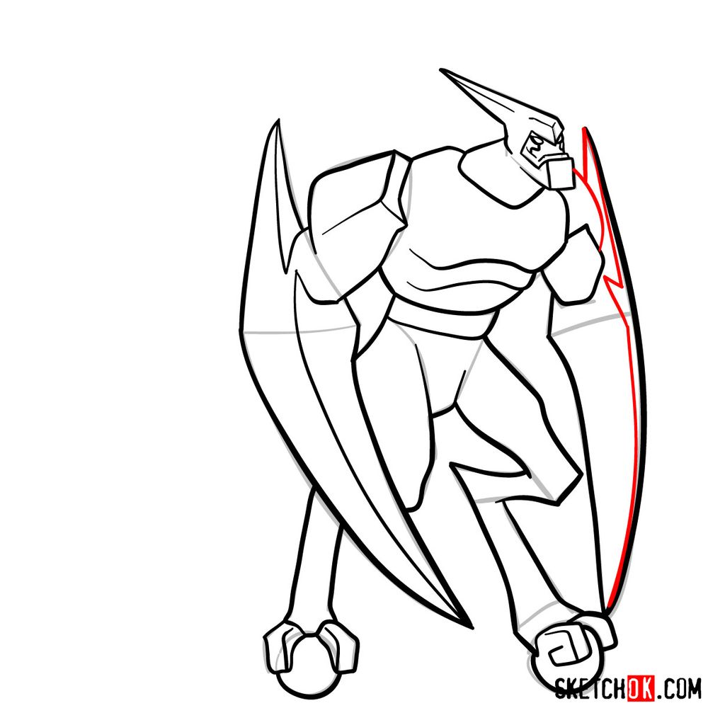 How to draw XLR8 from Ben 10 - step 13