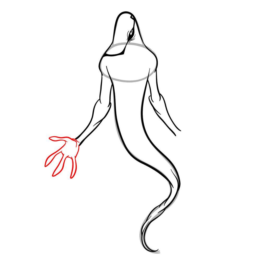 Draw Ghostfreak from Ben 10 in 18 steps - step 11