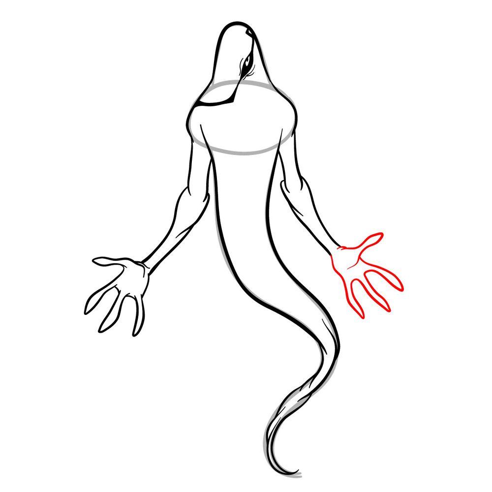 Draw Ghostfreak from Ben 10 in 18 steps - step 12