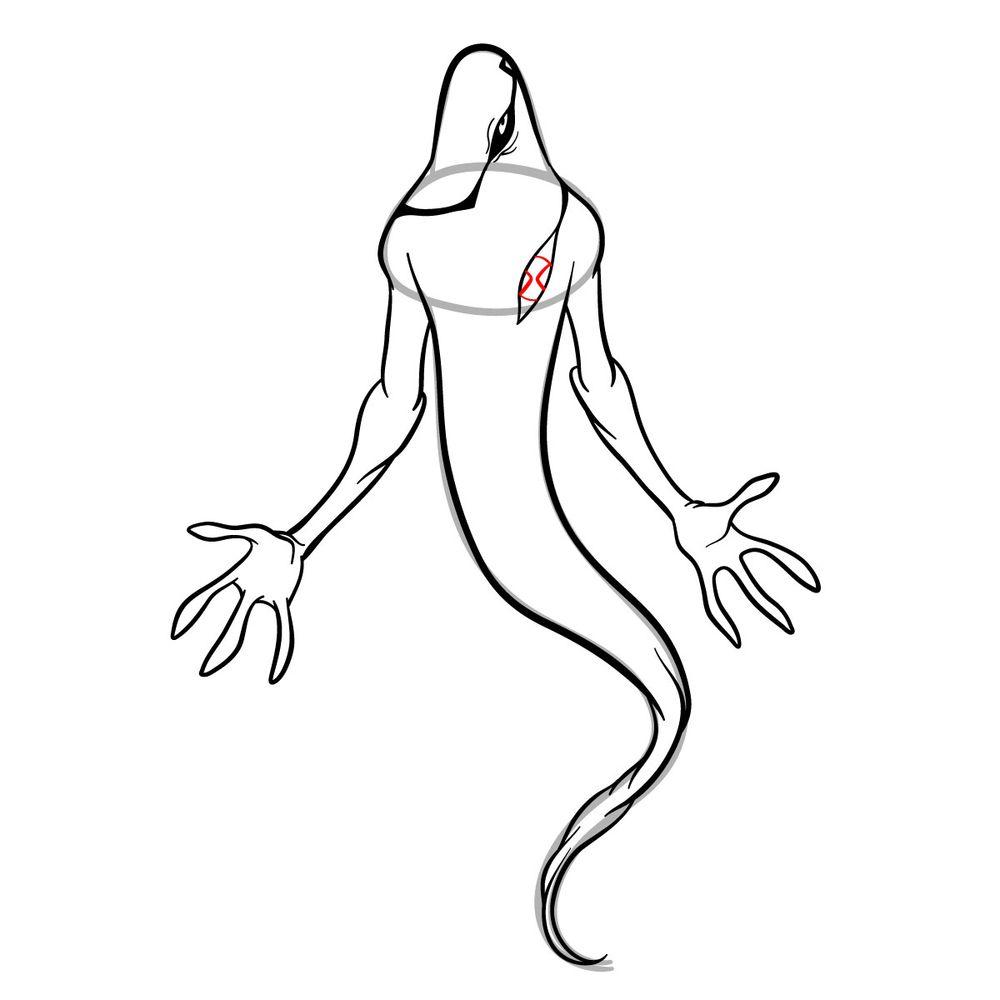 Draw Ghostfreak from Ben 10 in 18 steps - step 14