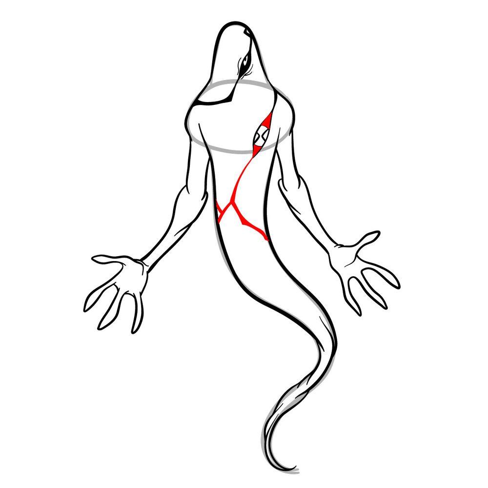 Draw Ghostfreak from Ben 10 in 18 steps - step 15