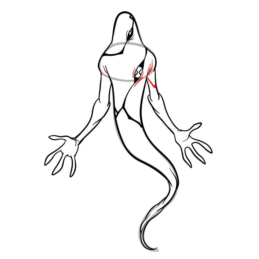 Draw Ghostfreak from Ben 10 in 18 steps - step 16