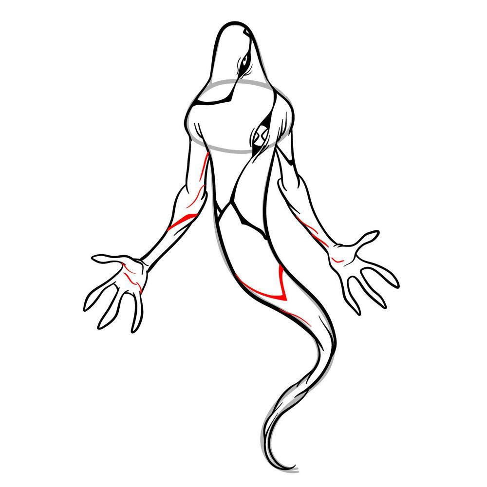 Draw Ghostfreak from Ben 10 in 18 steps - step 17