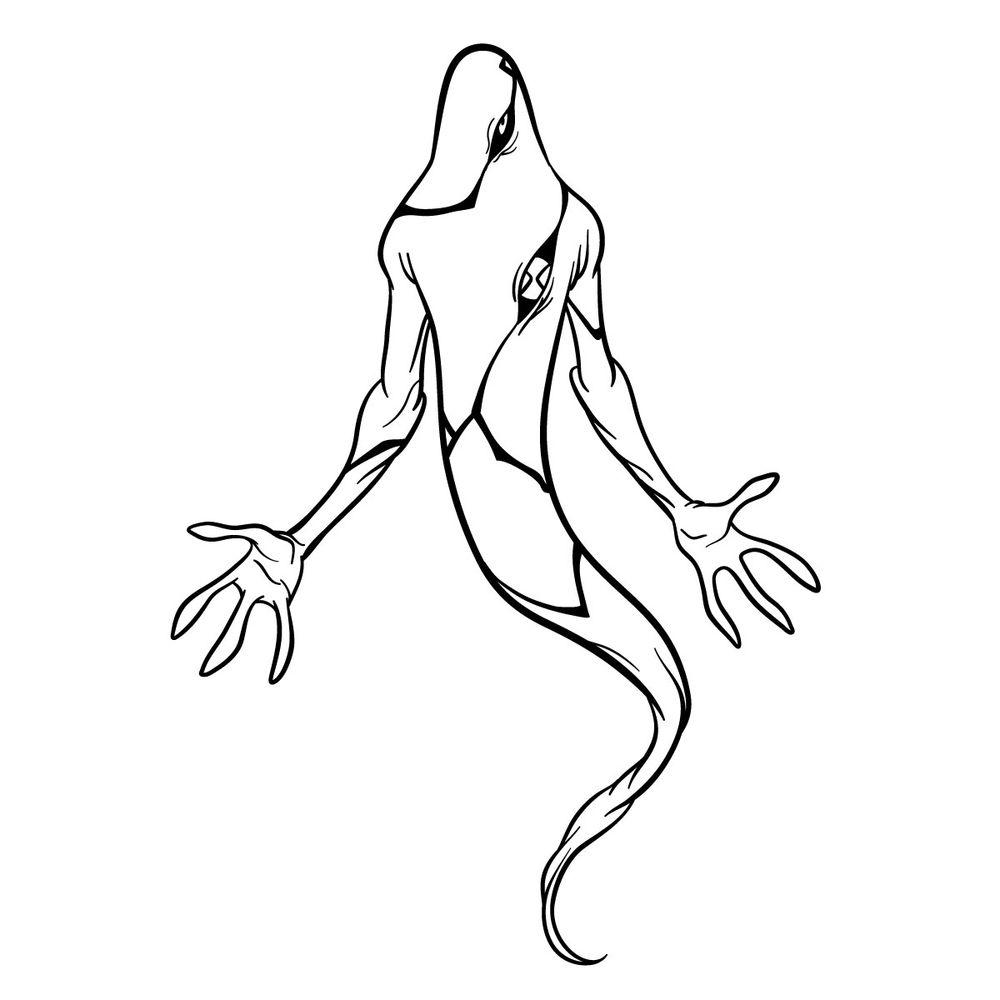 Draw Ghostfreak from Ben 10 in 18 steps