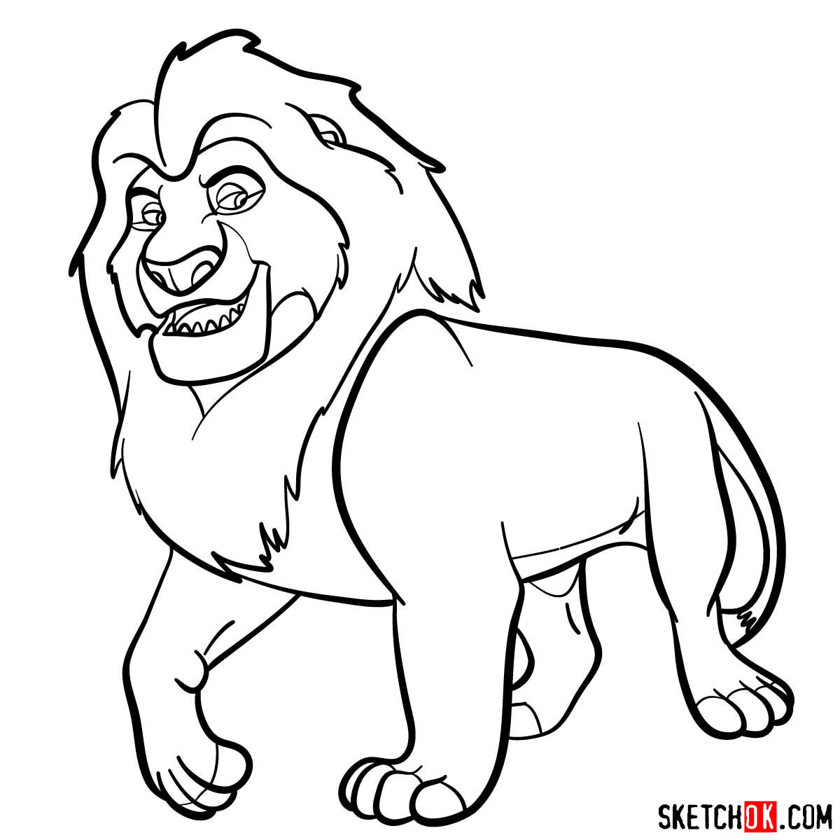 How to draw Mufasa | Lion King