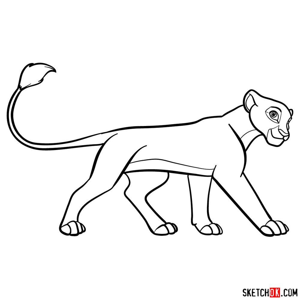 How to draw Kiara (side view)