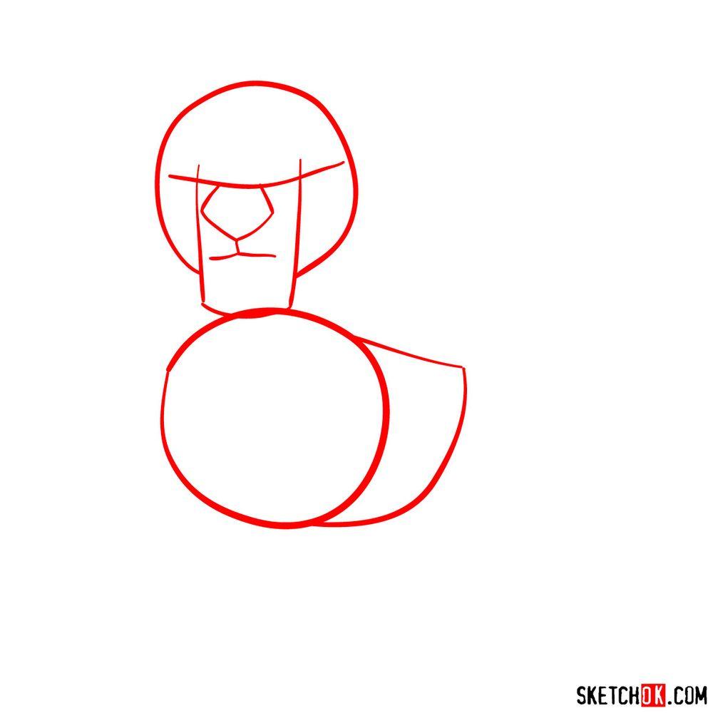 How to draw Kion - step 01