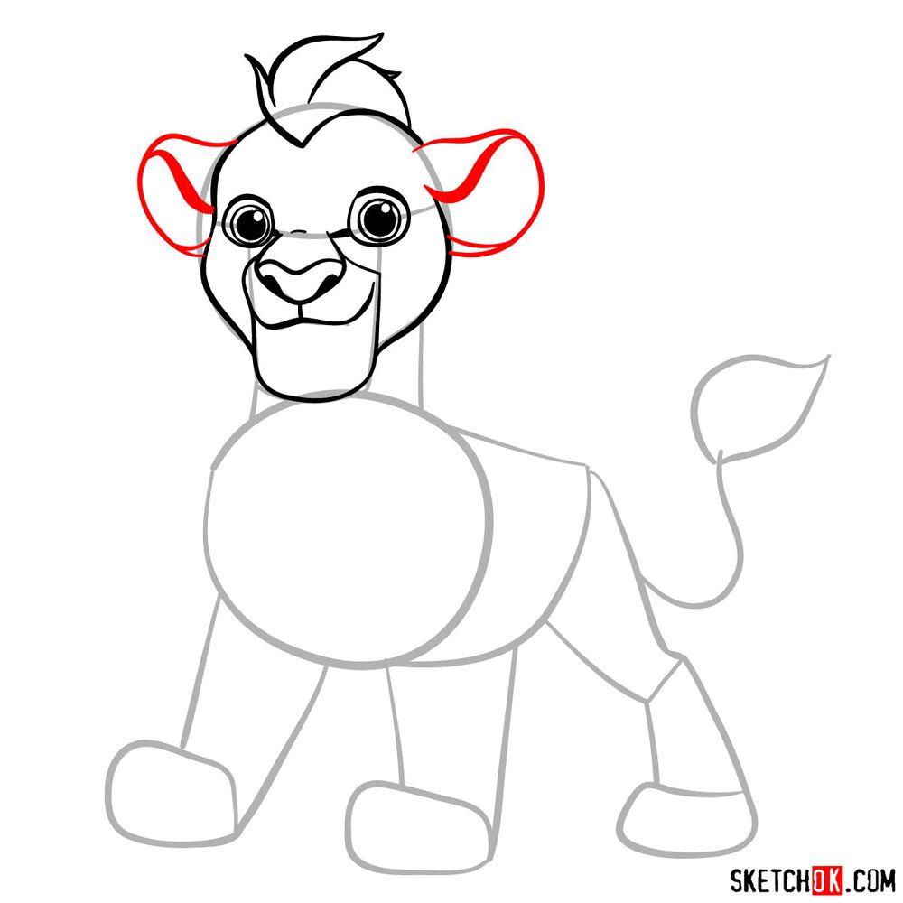 How to draw Kion - step 08