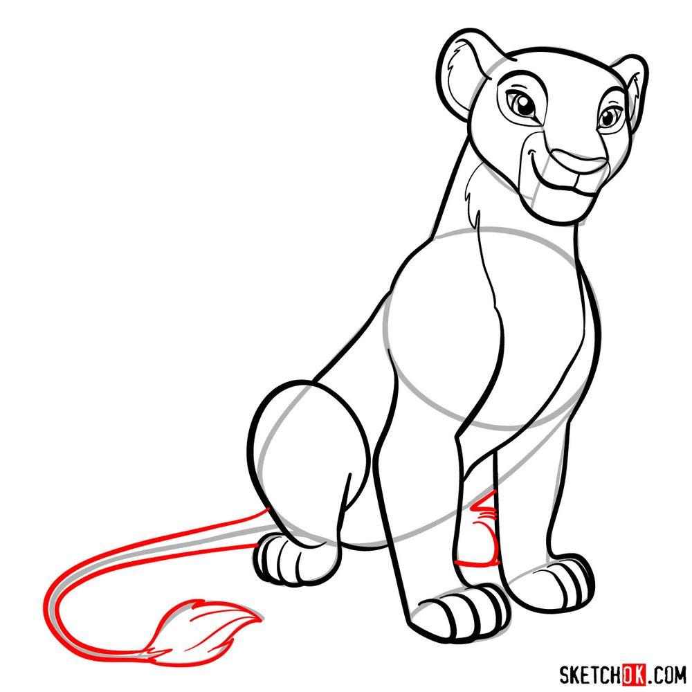 How to draw Nala - step 15