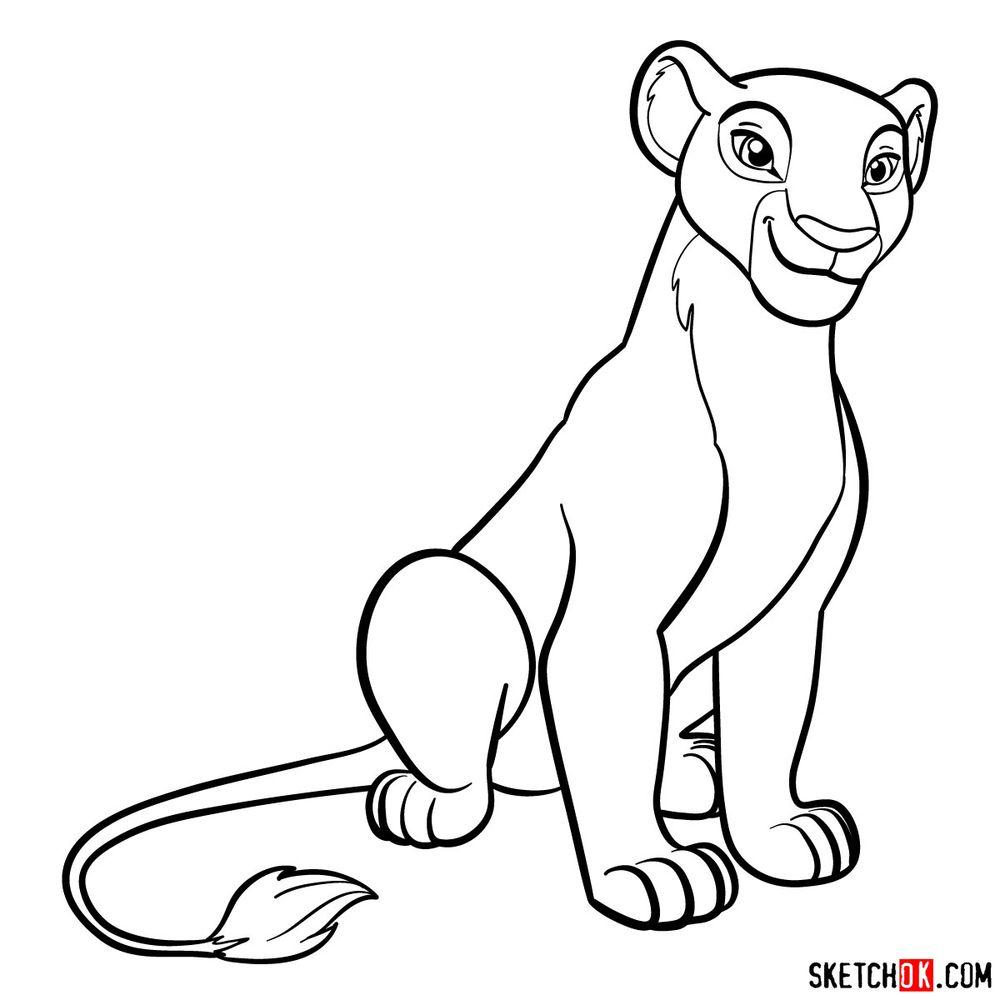 How to draw Nala