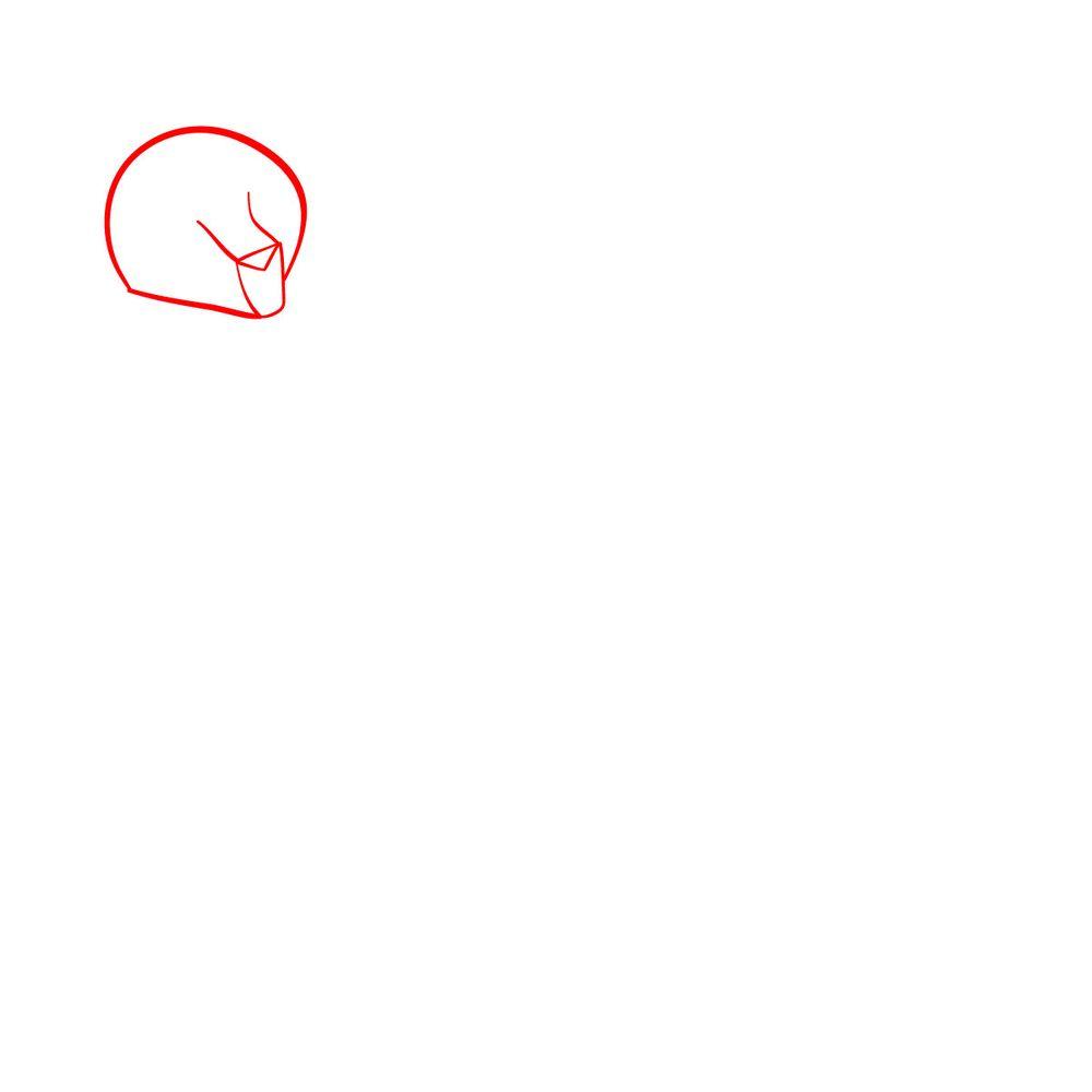 How to draw Fuli - step 01