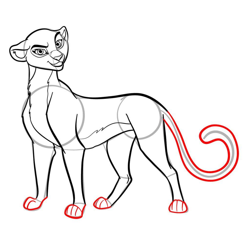 How to draw Fuli - step 17