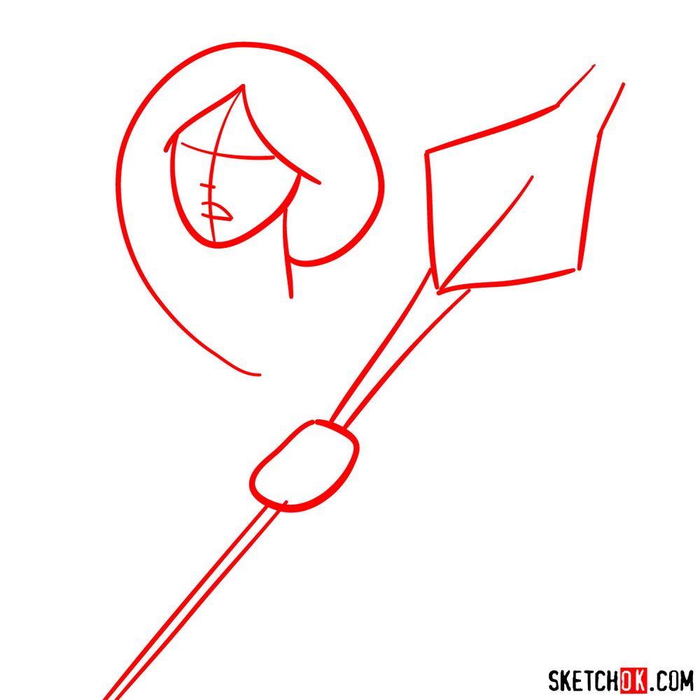 How to draw Princess Mermista - step 01