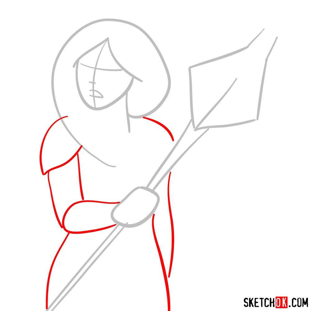 How to draw Princess Mermista - step 02