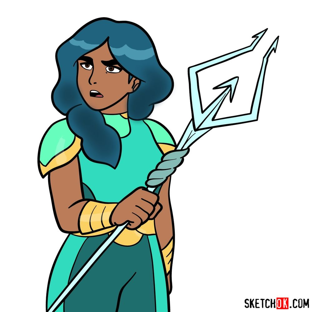How to draw Princess Mermista