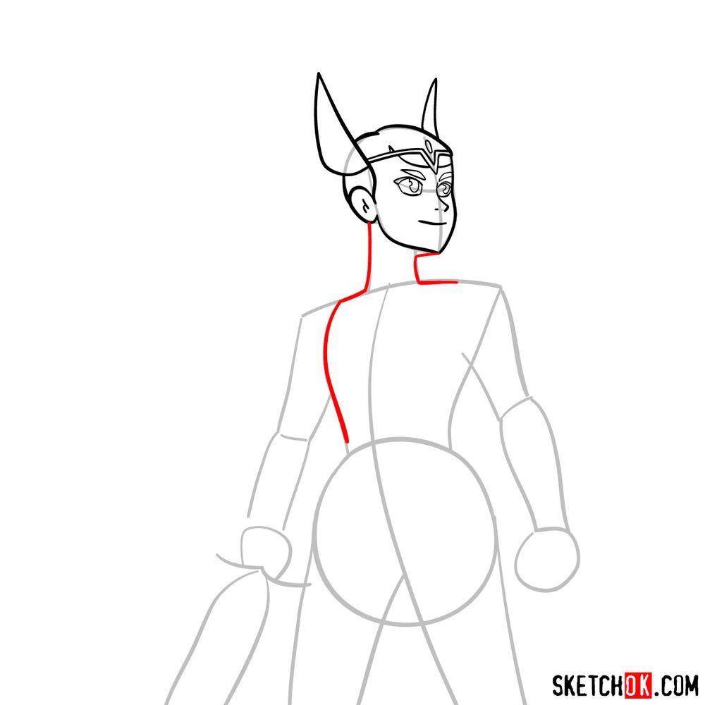 How to draw She-Ra (Adora) - step 06