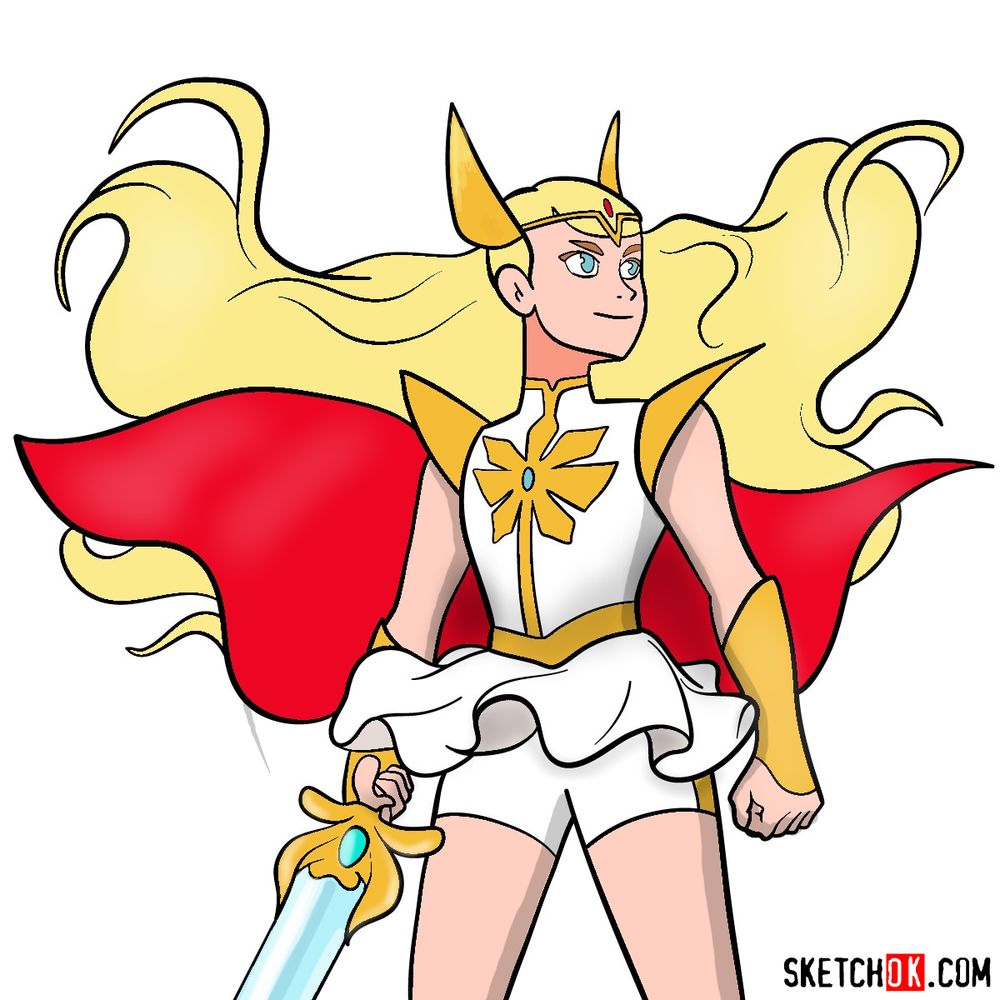 How to draw She-Ra (Adora)